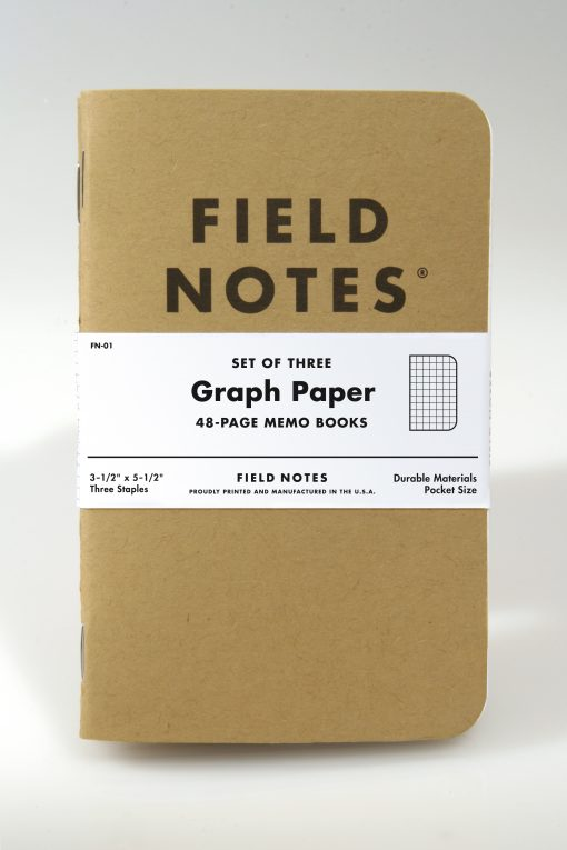 Field Notes Original Kraft Graph Paper 3-pack