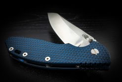 "Hinderer XM-24 4"" 20CV Sheepsfoot Blue Stonewashed Handle Blue/Black G10 Tri-Way Pivot"