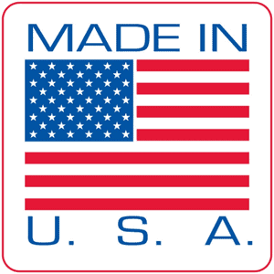 Made in U.S.A. badge because our knives are made in our country