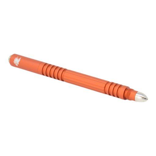 Hinderer Investigator Pen Matte Orange Hard Coat Ano Aluminum Cap on