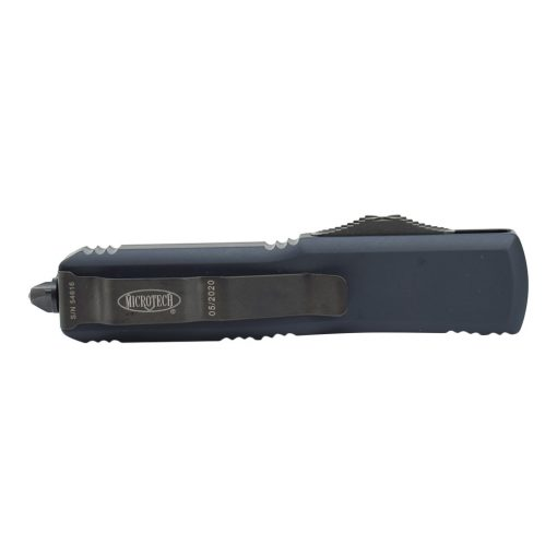 Microtech UTX-85 S/E Black DLC OTF Automatic Knife Black Handle Back Side Closed