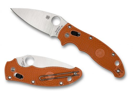 Spyderco Manix 2 Lightweight Knife Satin Burnt Orange FRCP Handle Both
