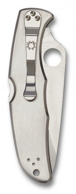Spyderco Endura 4 Lockback Knife Satin Plain Edge Stainless Steel Handle Back Side Closed