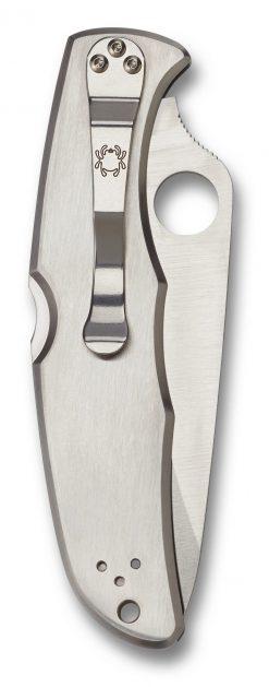 Spyderco Endura 4 Lockback Knife Satin Plain Edge Stainless Steel Handle Back Side Closed
