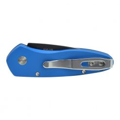 Pro-Tech Sprint CA Legal Auto Black Blade Blue Handle Back Side Closed
