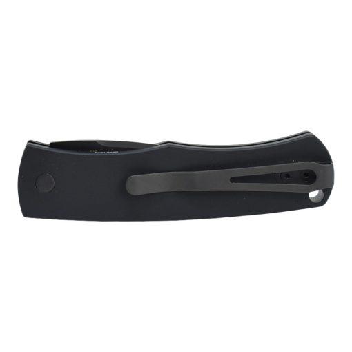 Pro-Tech Whiskers Black DLC Blade Black Handle Back Side Closed