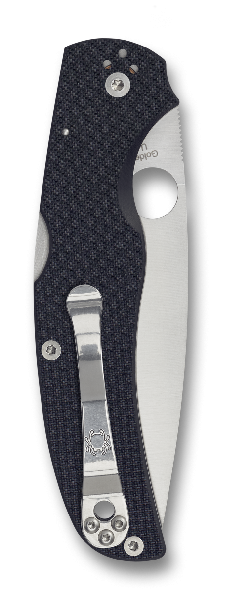 Spyderco Native Chief Lockback Knife Carbon Fiber Handle Back Side Closed