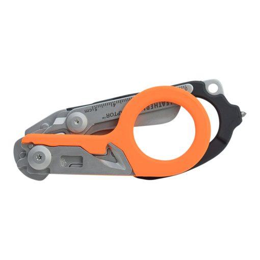 Leatherman Raptor Multi-Tool Scissors Orange/Black Handle Front Side Closed