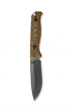 Benchmade Saddle Mountain Skinner S30V Blade Richlite Handle Front Side Down