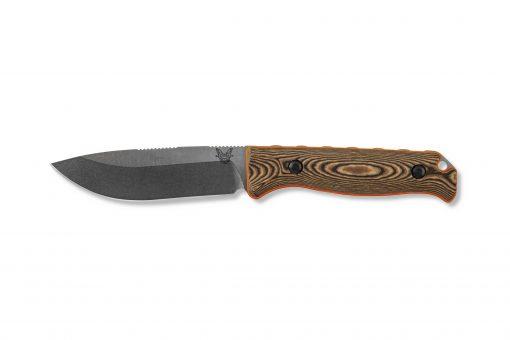 Benchmade Saddle Mountain Skinner S30V Blade Richlite Handle Front Side