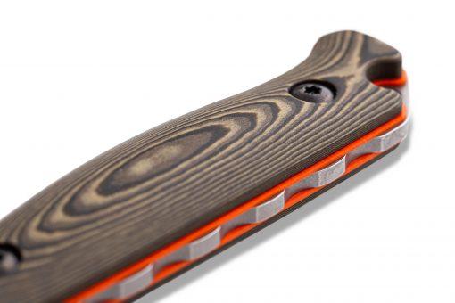 Benchmade Saddle Mountain Skinner S30V Blade Richlite Handle Spine Close Up
