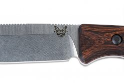 Benchmade Saddle Mountain Skinner S30V Blade Wood Handle Blade Close Up