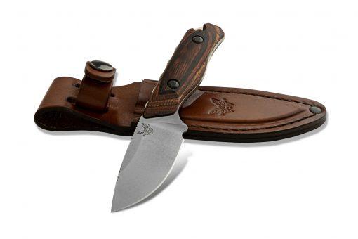 Benchmade Hidden Canyon Hunter S30V Blade Wood Handle With Sheath