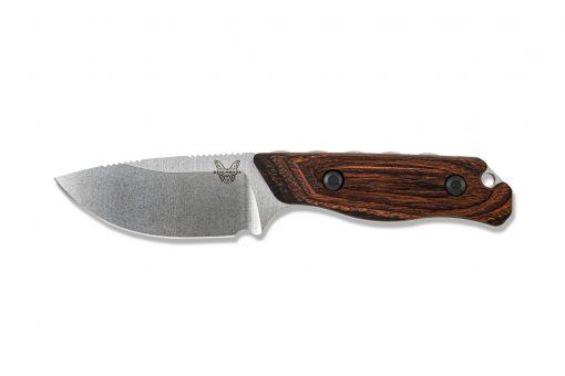Benchmade Hidden Canyon Hunter S30V Blade Wood Handle Front Side