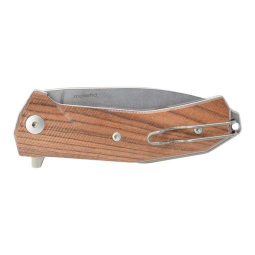 Lionsteel KUR ST Sleipner Blade Olive Wood Handle Back Side Closed