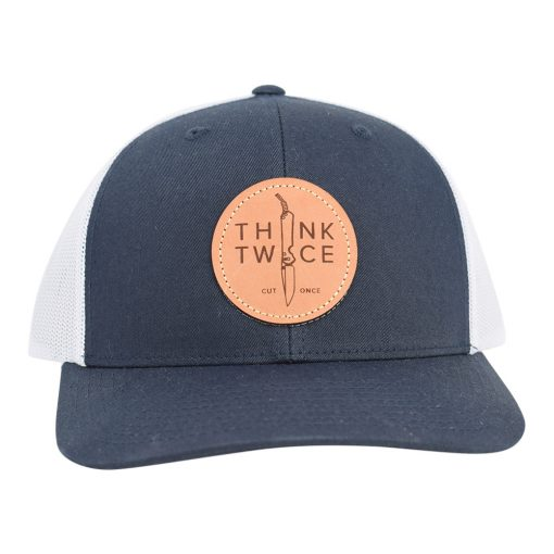 Chris Reeve Knives Trucker Hat Navy Front Close Up