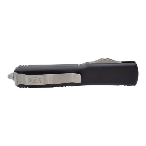 Microtech Ultratech D/E Apocalyptic M390 Blade OTF Automatic Knife Black Handle Back Side Closed