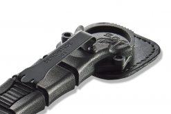 Benchmade Mini SOCP Black Cerakote 440C Fixed Blade Clip Close Up