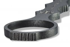 Benchmade Mini SOCP Black Cerakote 440C Fixed Blade Ring Close Up