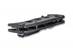 Benchmade Mini Adamas FPR Tungsten Grey Cerakote Blade Black G-10 Handle Side