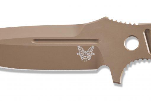 Benchmade Fixed Adamas Cobalt Flat Earth CPM-CruWear Blade Close Up