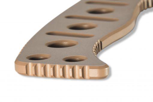 Benchmade Fixed Adamas Cobalt Flat Earth CPM-CruWear Handle Close Up 2
