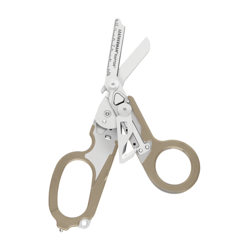 Leatherman Raptor Multi-Tool Scissors Tan Handle Front Side Open 2