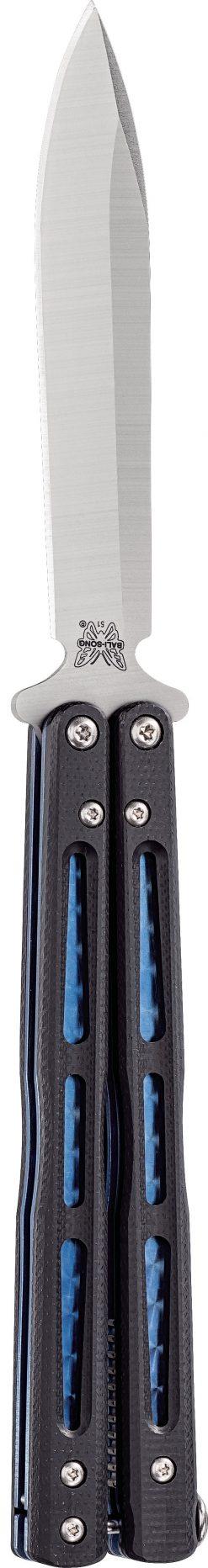 Benchmade 51 Morpho Bali-Song D2 Blade Black G-10 Handle Front Side Open