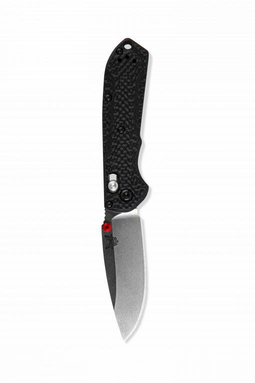 Benchmade Mini Freek FPR S90V Blade Carbon Fiber Handle Front Side Open Down