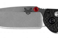 Benchmade Mini Freek FPR S90V Blade Carbon Fiber HandleBenchmade Mini Freek FPR S90V Blade Carbon Fiber Handle Blade Close Up