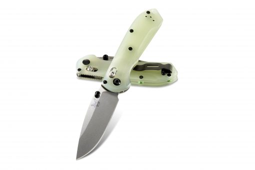 Benchmade Mini Freek Shot Show Exclusive S90V Blade Jade G-10 Handle Both