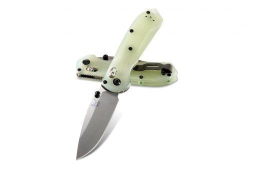 Benchmade Mini Freek Shot Show Exclusive S90V Blade Jade G-10 Handle Both