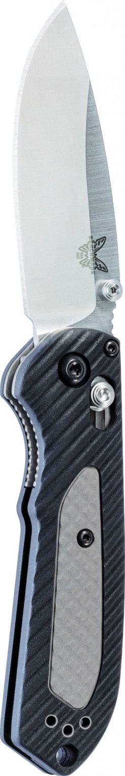 Benchmade Mini Freek S30V Blade Black/Grey Handle Front Side Tip-Up