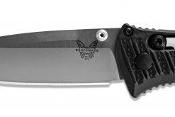 Benchmade Mini Presidio II S30V Blade Black CF-Elite Handle Blade Close Up