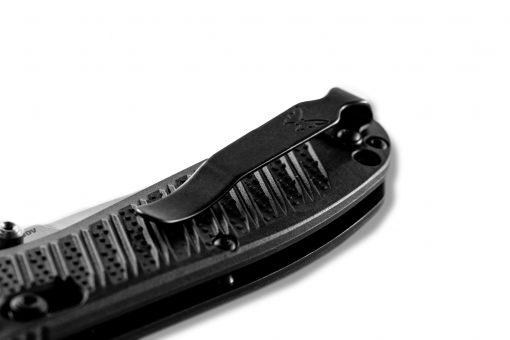 Benchmade Mini Presidio II S30V Blade Black CF-Elite Handle Clip Close Up