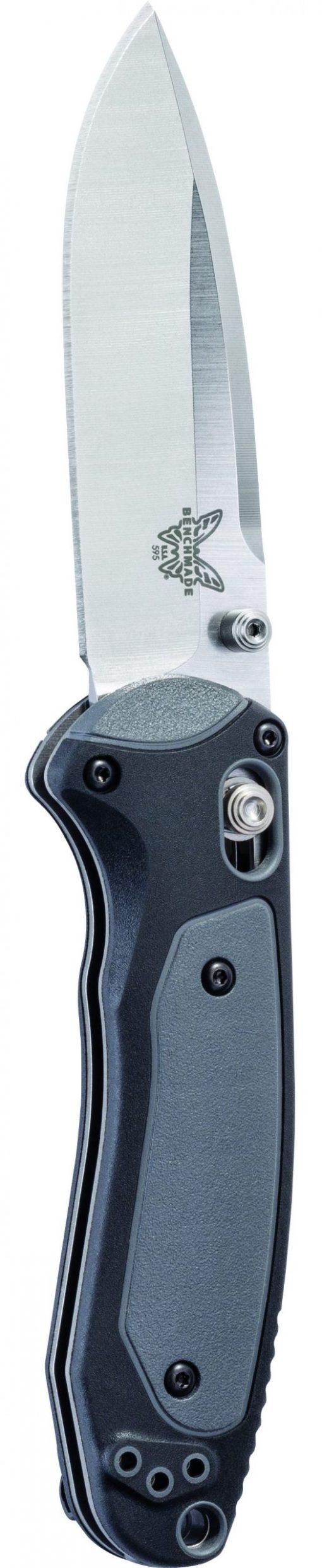 Benchmade Mini Boost S30V Blade Black/Grey Handle Front Side Tip-Up