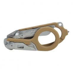 Leatherman Raptor Multi-Tool Scissors Tan Handle Front Side Closed