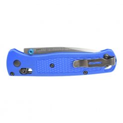 Benchmade Bugout S30V Drop Point Blade Blue Grivory Handle Back Side Closed