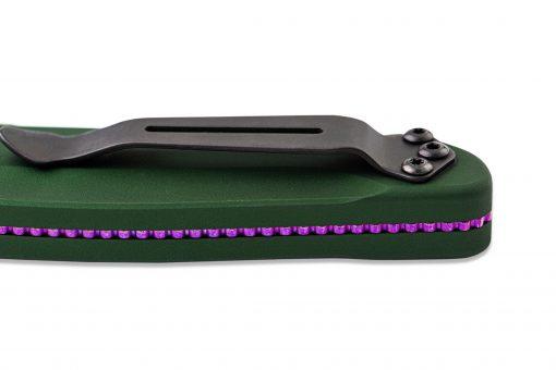 Benchmade FPR Osborne Auto S30V Blade Green Aluminum Handle Close Up Clip 2