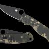 Spyderco Para Military 2 Black VG-10 Blade Digicamo G-10 Handle Both