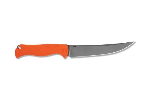 Benchmade Meatcrafter CPM-154 Blade Orange Santoprene Handle Back Side