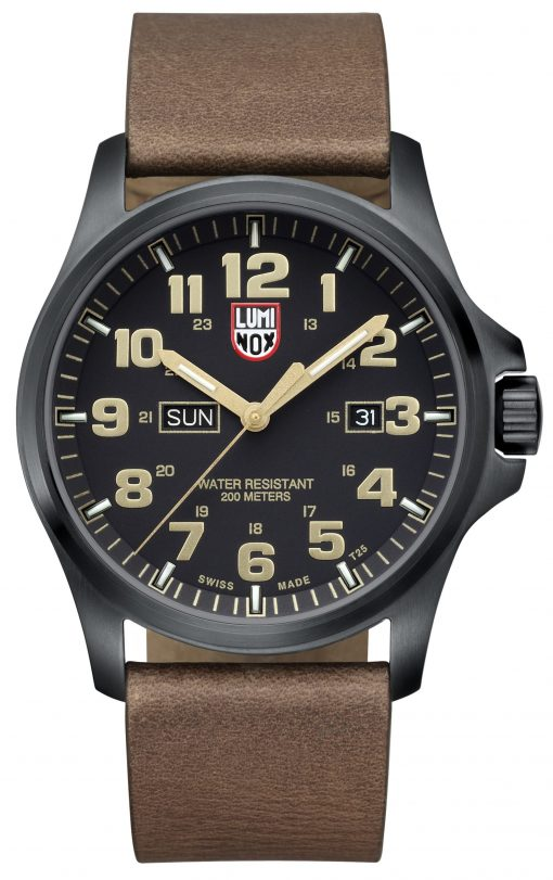 Luminox Atacama Field Day Date 1929 Brown/Gold Front Side Closed Center