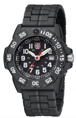 Luminox Navy SEAL 3500 Series 3502.L Black/White Front Side Closed Angled