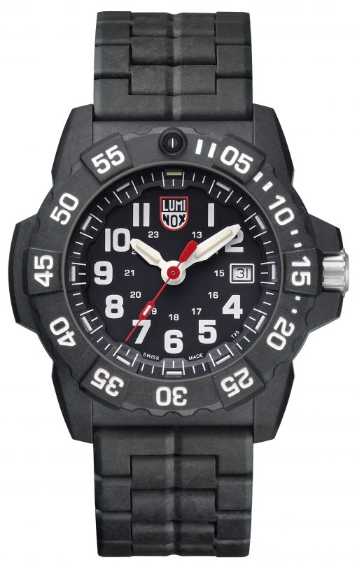 Luminox Navy SEAL 3500 Series 3502.L Black/White Front Side Closed Center