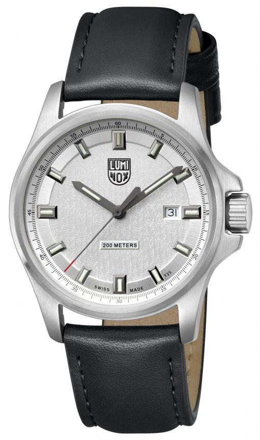 Luminox Dress Field 1830 Series 1839 Black/Silver Front Side Closed Angled