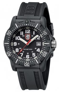 Luminox Black OPS 8880 Series 8881 Black/White Front Side Closed Angled