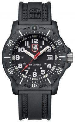 Luminox Black OPS 8880 Series 8881 Black/White Front Side Closed Center