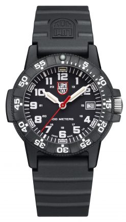 Luminox Leatherback Sea Turtle 0300 Series 0301.L Black/White Front Side Closed Center