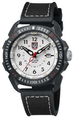 Luminox ICE-SAR ARTIC 1000 Series - CARBONOX 1007 Silver/Black Front Side Closed Angled