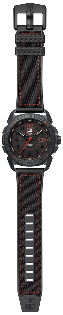 Luminox ICE-SAR ARTIC 1000 Series - CARBONOX 1002 Black/Red Front Side Open Center